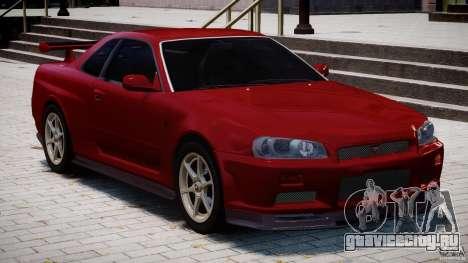 Nissan Skyline GT-R 34 V-Spec для GTA 4 вид сверху
