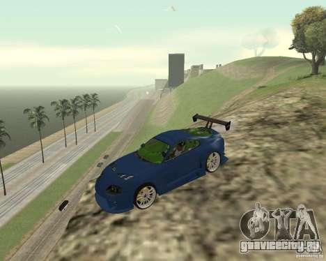Toyota Supra TwinTurbo для GTA San Andreas вид сверху