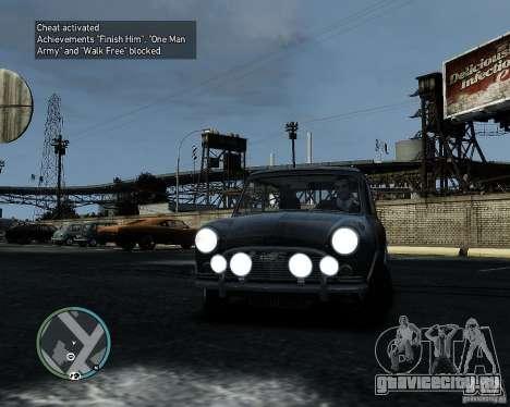 Austin Mini Cooper S для GTA 4 вид слева