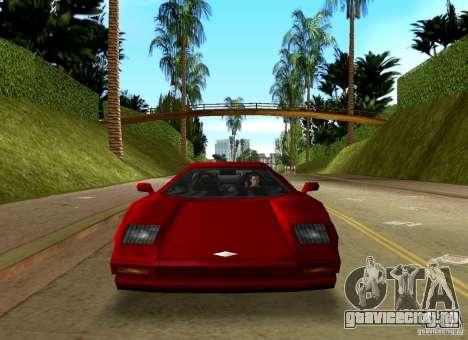 Infernus BETA для GTA Vice City вид сзади