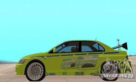 Mitsubishi Lancer Evo The Fast and the Furious 2 для GTA San Andreas вид сзади слева