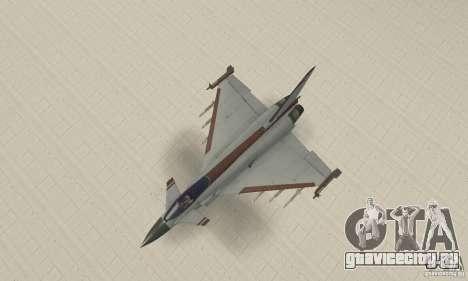EF-2000 Typhoon V1.3 для GTA San Andreas вид сбоку