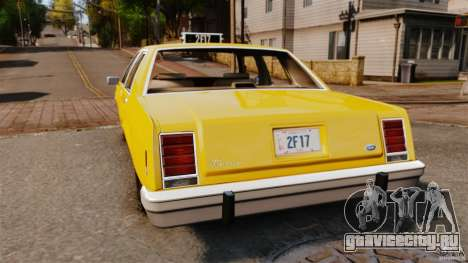 Ford LTD Crown Victoria 1987 L.C.C. Taxi для GTA 4 вид сзади слева