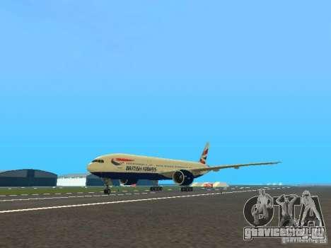 Boeing 777-200 British Airways для GTA San Andreas