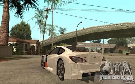 Hyundai Genesis Coupe Pikes Peak для GTA San Andreas вид сзади слева