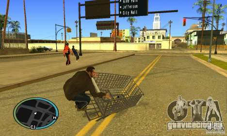 Shopping Cart Faggio V2 для GTA San Andreas вид сзади слева