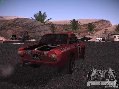 Lancia Fulvia Rally для GTA San Andreas вид сзади слева
