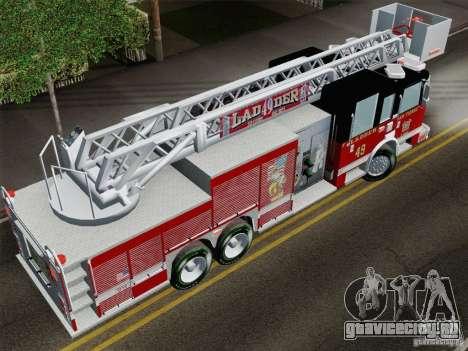 Pierce Rear Mount SFFD Ladder 49 для GTA San Andreas вид сзади