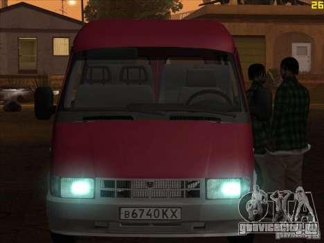 ГАЗ 22171 Соболь для GTA San Andreas вид сзади слева