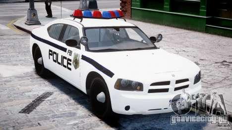 Dodge Charger FBI Police для GTA 4 вид изнутри