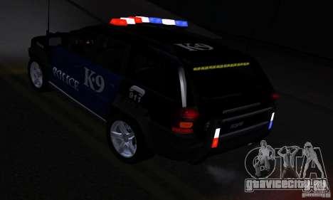 NFS Undercover Police SUV для GTA San Andreas вид изнутри