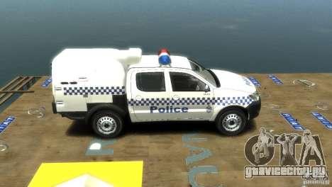 Toyota Hilux Australian Police ELS для GTA 4 вид справа