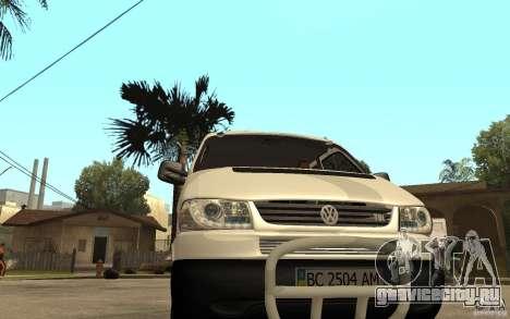 Volkswagen Transporter T4 для GTA San Andreas вид сзади