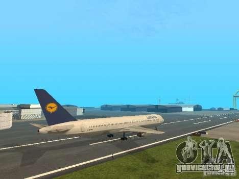Boeing 767-300 Lufthansa для GTA San Andreas вид сзади слева