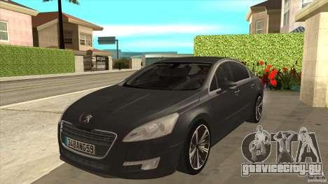 Peugeot 508 2011 EU plates для GTA San Andreas