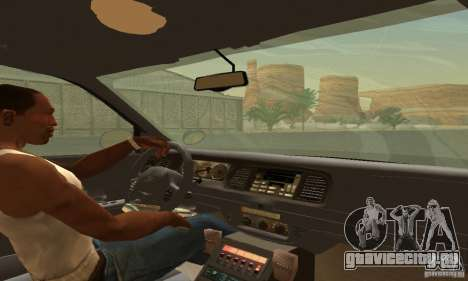 Ford Crown Victoria Wyoming Police для GTA San Andreas вид сзади слева