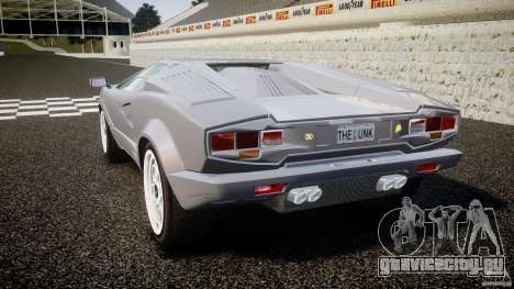 Lamborghini Countach для GTA 4 вид сзади слева