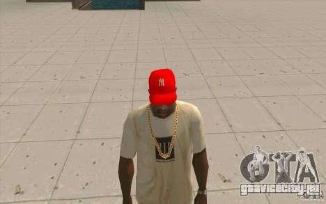 Кепка newyorkyankiys красная для GTA San Andreas второй скриншот