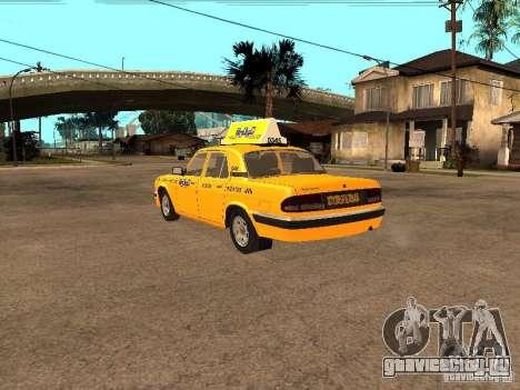 ГАЗ-31105 Волга Такси для GTA San Andreas вид сзади слева