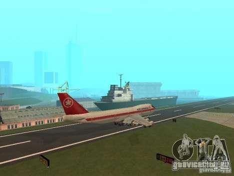 Boeing 747 Air Canada для GTA San Andreas вид сзади