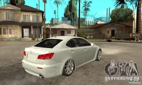 Lexus IS F 2009 для GTA San Andreas вид изнутри