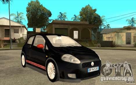Fiat Grande Punto 3.0 Abarth для GTA San Andreas вид сзади
