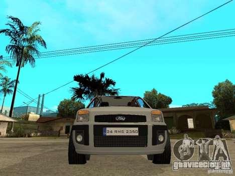Ford Fusion 2009 для GTA San Andreas вид справа