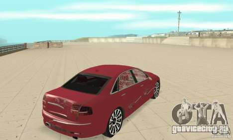 Audi A8L 4.2 FSI для GTA San Andreas вид сверху