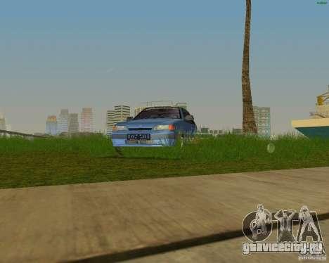 Lada Samara 3doors для GTA Vice City вид сзади слева