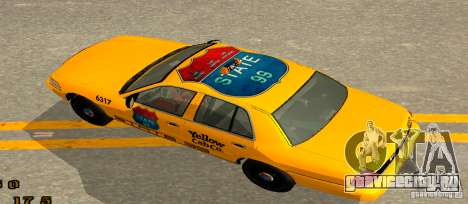 Ford Crown Victoria 2003 Taxi for state 99 для GTA San Andreas вид сзади слева