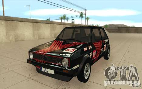 Volkswagen Golf Mk1 - Stock для GTA San Andreas вид снизу