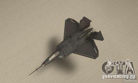 YF-22 Black для GTA San Andreas вид справа