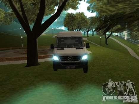 Mercedes Sprinter 311CDi beta для GTA San Andreas вид сзади слева