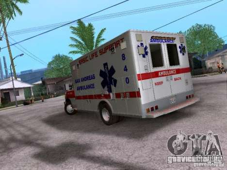 Ford E-350 Ambulance v2.0 для GTA San Andreas вид сзади слева