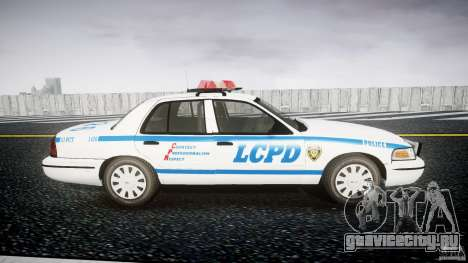 Ford Crown Victoria Police Department 2008 LCPD для GTA 4 вид сзади