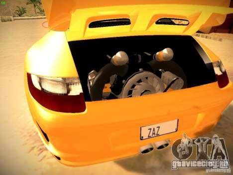 Porsche 911 для GTA San Andreas вид снизу
