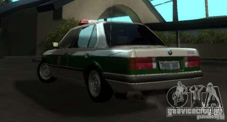 BMW E30 Sedan Police для GTA San Andreas вид сзади слева