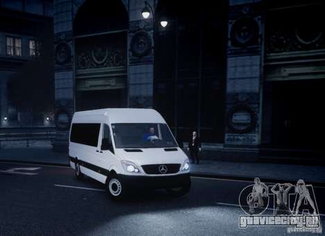Mercedes-Benz Sprinter Long для GTA 4 вид сзади