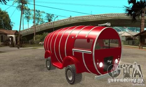 Beer Barrel Truck для GTA San Andreas вид сзади