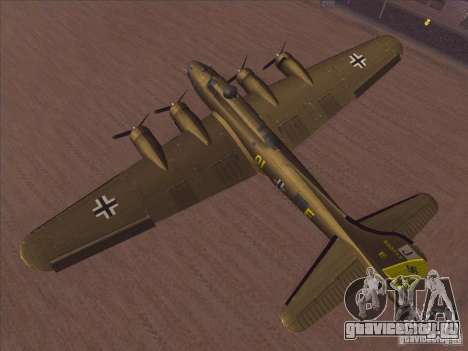 B-17G Flying Fortress для GTA San Andreas вид справа