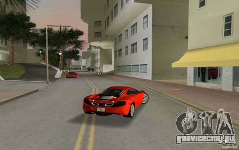 Mclaren MP4-12C для GTA Vice City вид справа