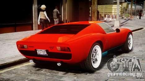 Lamborghini Miura P400 1966 для GTA 4 вид справа