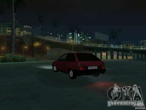 ВАЗ 2108 Сток для GTA San Andreas вид изнутри