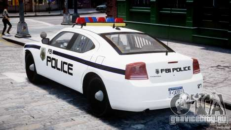 Dodge Charger FBI Police для GTA 4 вид справа