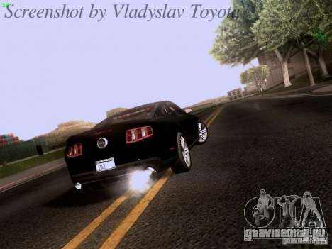 Ford Mustang GT 2011 Unmarked для GTA San Andreas вид справа