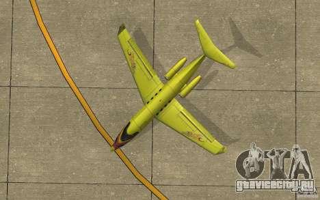 Shamal 1.0 Final для GTA San Andreas вид сзади