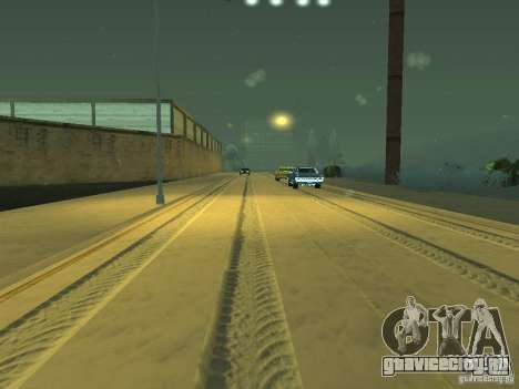 Снег v2.0 для GTA San Andreas девятый скриншот