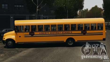 School Bus v1.5 для GTA 4 вид слева