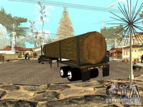 Спиленное дерево для GTA San Andreas вид сзади слева