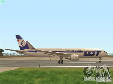 Boeing 767-300 LOT Polish Airlines для GTA San Andreas вид сбоку